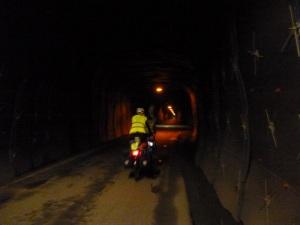 Inside a Norwegian tunnel